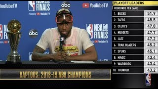 Kawhi Leonard  Press Conference   NBA Finals Game 6