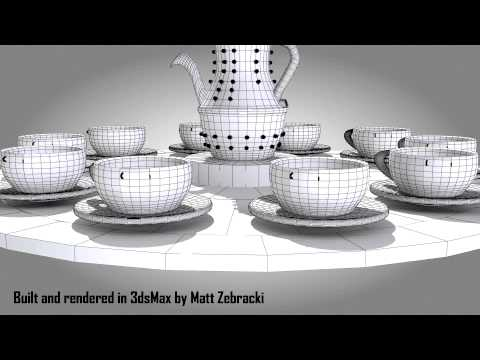 tea cup ride in 3ds max