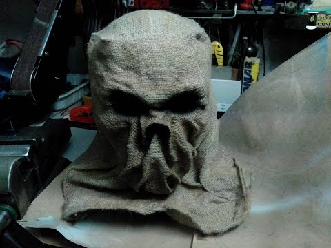 Handmade halloween scarecrow mask by Alberto Dalla Rosa (  DIY burlap )