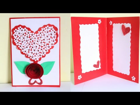 DIY Heart Card/Love Wedding Anniversary Card/Making Greetings for birthday/Anniversary/Valentine day