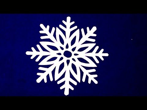 How to make a snowflake out of paper? Paper cutting flowers designs#christmas paper decorations