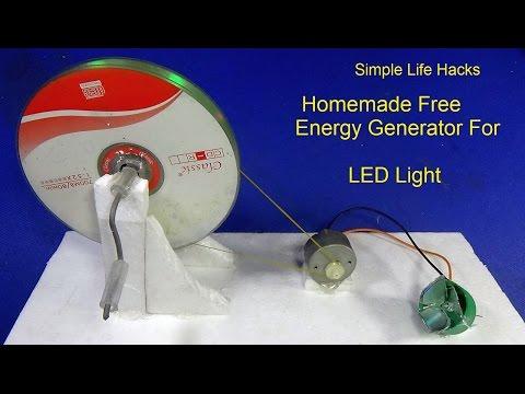 DIY - How To Make Homemade Free Energy Generator For LED Light