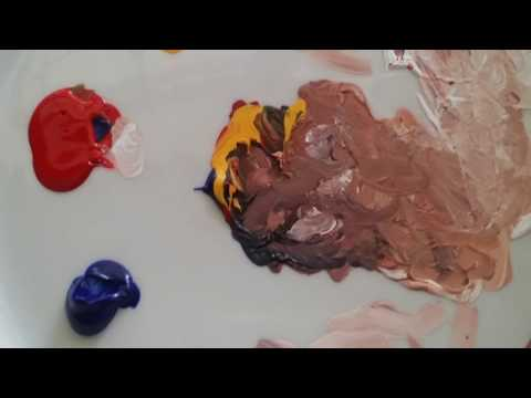 Tutorial :how to create skintones in acrylic paint .how to paint people