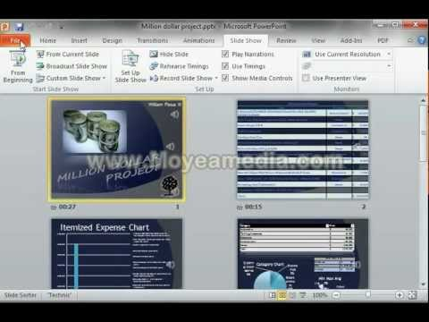 How to convert Microsoft PowerPoint Presentation into wmv video file.