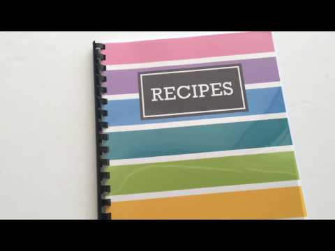 How to quickly make a DIY recipe book (plus free printable recipe pages and  book cover)