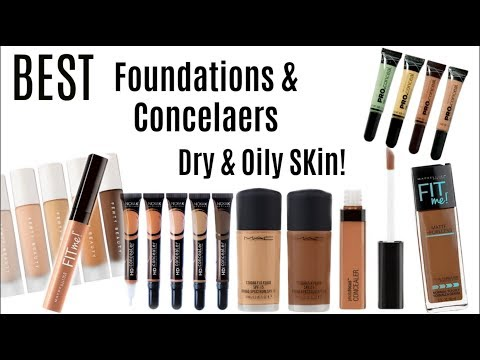 BEST Affordable Foundations & Concealers for Olive to Dark Skin Dry & Oily Skin 2018