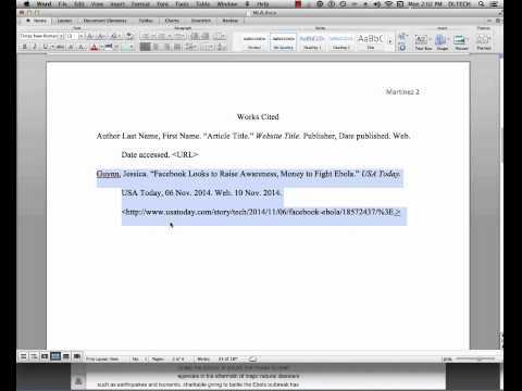 mla in text citation example