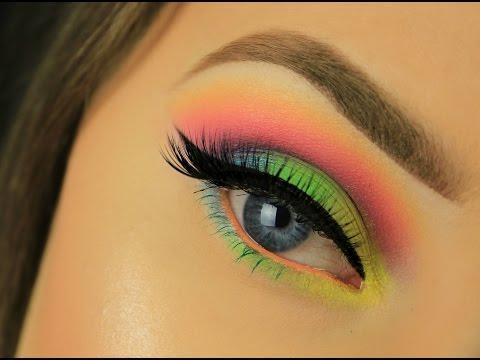 Rainbow Neon Festival/Rave Makeup | Drugstore | Eimear McElheron
