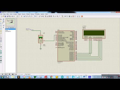 LM35 to PIC16F877A Proteus Simulation - Temperature Sensor to PIC.