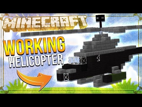 Use Command Block To Make A Working Helicopter in minecraft pe No Addon | mcpe pocket edition