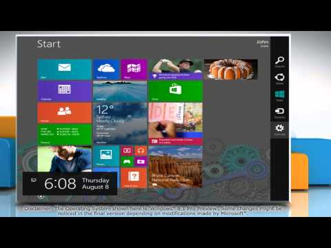 How to change a Microsoft® Account to a Local Account in Windows® 8.1 Pro Preview PC