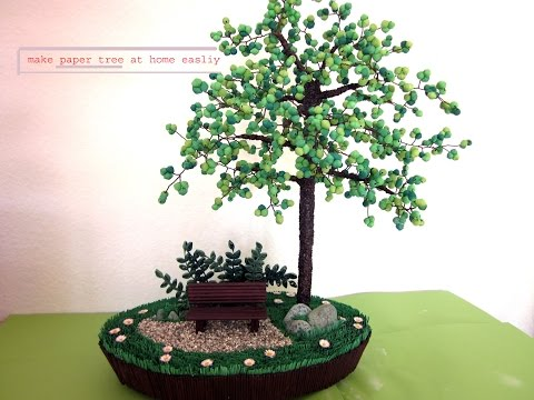 how to make tree from paper
