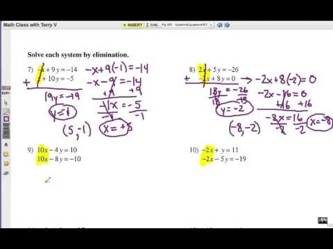Solve Systems of Equations: Elimination Method