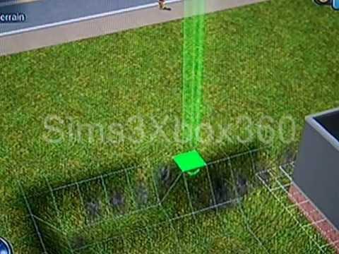 Sims 3 (Xbox 360) - Sloping Driveway/Underground garage tutorial