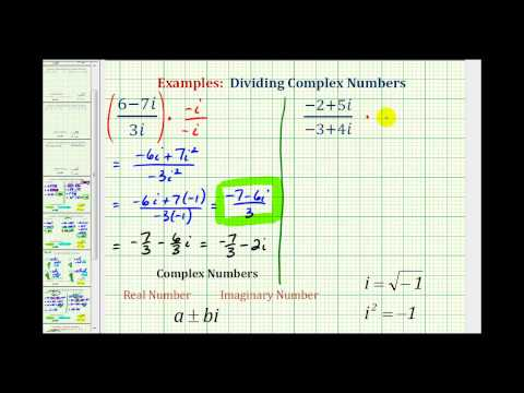 Ex:  Dividing Complex Numbers