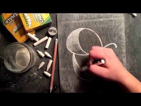 SheShe Design Chalk Script Lettering UPPERCASE O