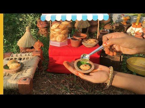 Mini Pani Puri   E#31   Golgappa Recipe   Miniature Cooking
