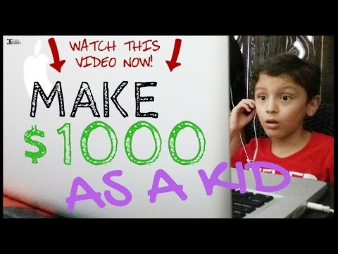 How To Make $1,000 Dollars in a MONTH For Kids [Super Simple]