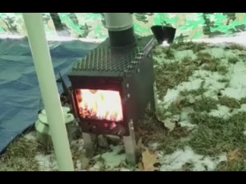 Testing the Ammo Can Stove at 20 Degrees