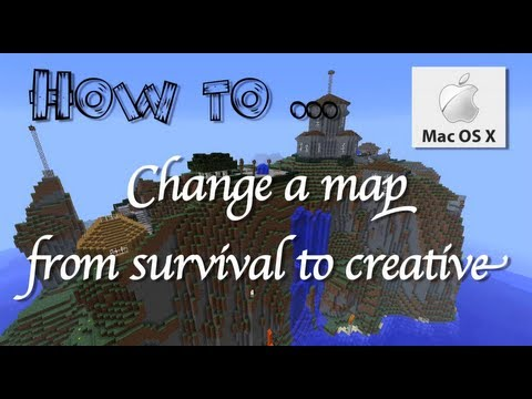 Minecraft-how to change from survival to creative in MacOSX