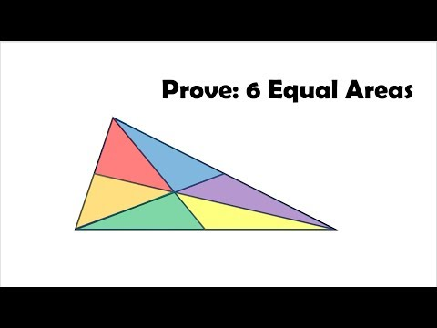 Prove: Medians Divide a Triangle into Six Equal Areas