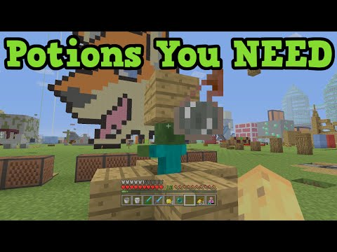 Minecraft - 5 Potions You NEED - Brewing Guide