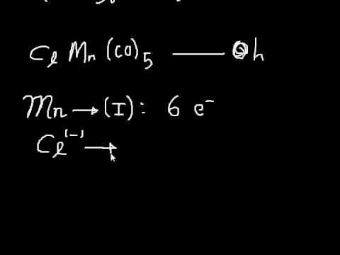 The 18 Electron Rule - Electron Counting via Method A and B + Hapticity