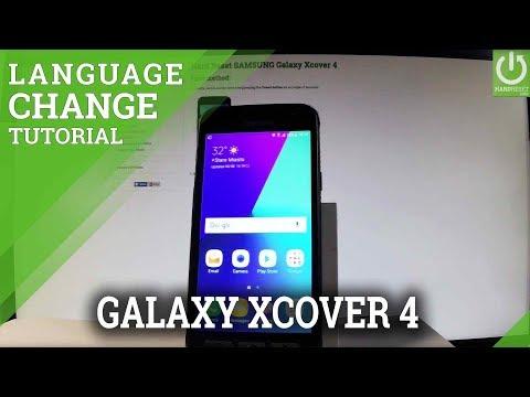 SAMSUNG Galaxy Xcover 4 Change Language / Language Settings