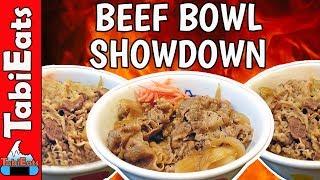 The BEST BEEF BOWL in JAPAN-Yoshinoya, Matsuya or Sukiya?