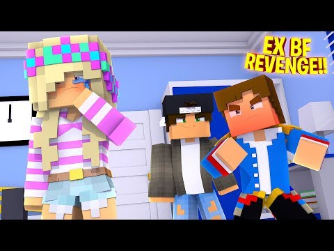 LITTLE LEAH'S EX BOYFRIEND LIES TO DONNY!! Minecraft - Little Donny Adventures