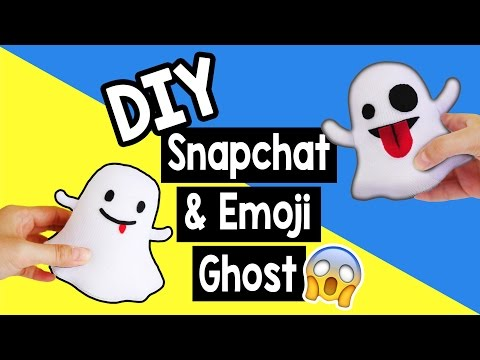 How to make Snapchat & Emoji Ghost Plush Tutorial! Easy DIY! (Free Pattern)
