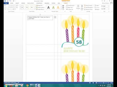 Card templates in Microsoft Word