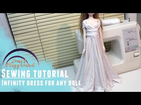 How to make an infinity dress to fit any doll