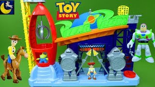 Download NEW Toy Story Toys Fisher Price Imaginext Pizza Planet Playset Truck Buzz Lightyear Woody Set Toys Video