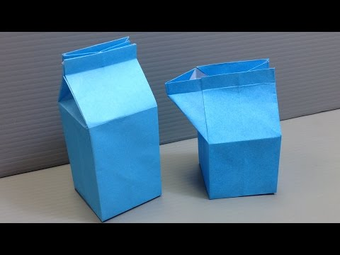 Origami Milk Carton Gift Box