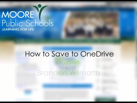 Saving to OneDrive