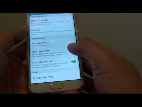 Samsung Galaxy S6 Edge: How to Enable / Disable Backup My Data to Google Account