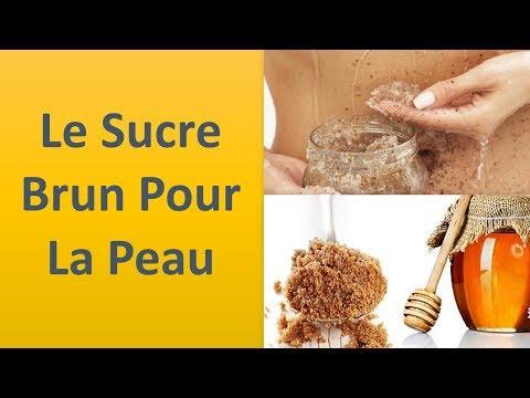 Le sucre brun pour la peau