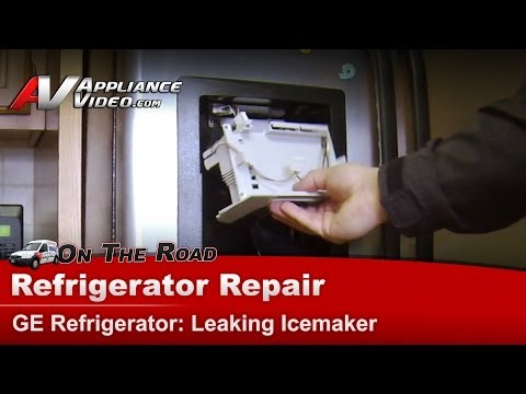 GE & Hotpoint Refrigerator Diagnostic Repair - Icemaker Dripping Water from Flapper - GSL255FTFBS