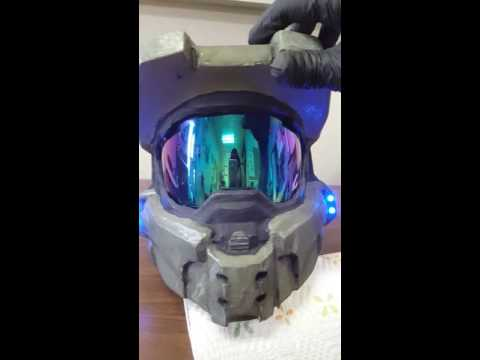 Pepakura Halo 4 Master Chief mkvii helmet update
