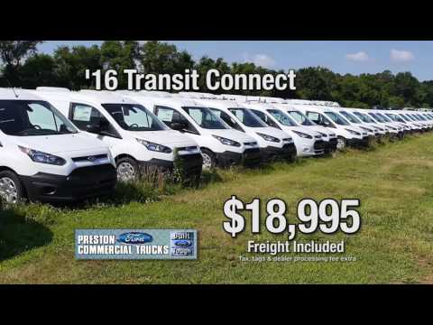 Labor Day Sales Event at Preston Ford's Commercial Truck Dept. in Maryland and Delaware
