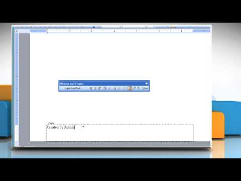 How to insert header and footer in Microsoft® Word 2003