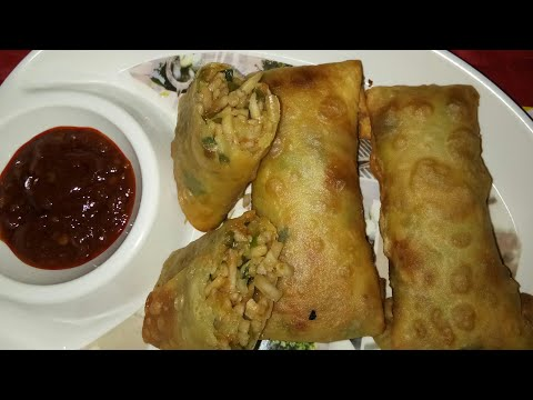 How to make veg spring roll at home in Hindi