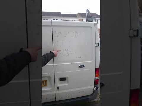 How to remove sticker glue from van paint