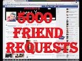 How to get 5000 friend requests on Facebook just in 5 hours
