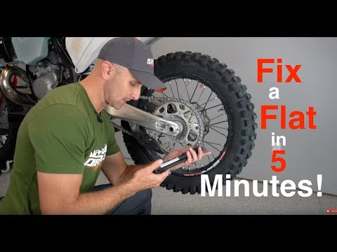Fix a Flat Dirt Bike Tire with a Tire Plug in 5 minutes  - TUbliss
