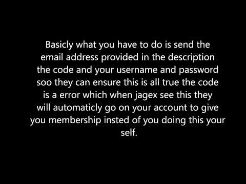 How to get free Runescape membership.