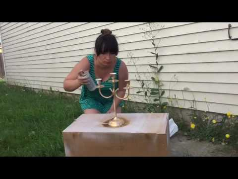 How to Spray Paint house accesory / candle holder