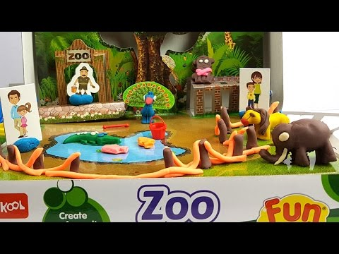 Play Doh Modeling Clay with Zoo Animals | Learning and Fun for Children with Creative Video for Kids