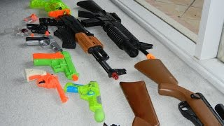 All of my toy guns